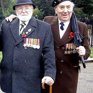 Lew & Ron at AJEX Parade 2008