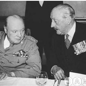 Churchill at the 1946 reunion which I attended