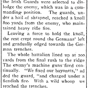 The Irish Guards get among the Germans. WW1