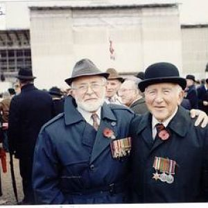 Mick & Ron At Cenotaph Nov 1992