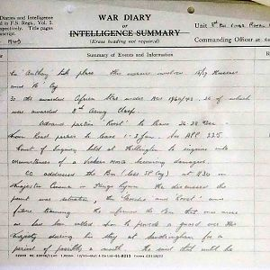 8th Bn The Kings Royal Rifle Corps (Queen Victoria's Rifles).  War Diaries Oct-Dec 1943.