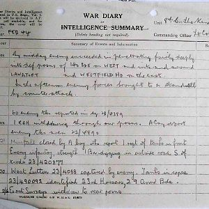 8th Bn The Kings Royal Rifle Corps (Queen Victoria's Rifles).  War Diaries Jan-Jun 1944.