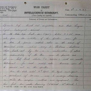 8th Bn The Kings Royal Rifle Corps (Queen Victoria's Rifles).  War Diaries Jan-May 1945.