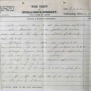8th Bn The Kings Royal Rifle Corps (Queen Victoria's Rifles).  War Diaries Jun-Nov 1945.