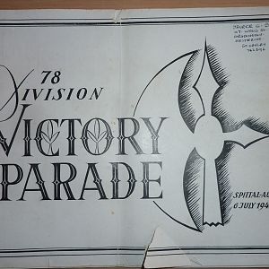 78th Division Victory Parade 1945 (5th Battalion Northants)