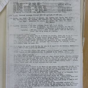 15 Recce War Diary - April 1942