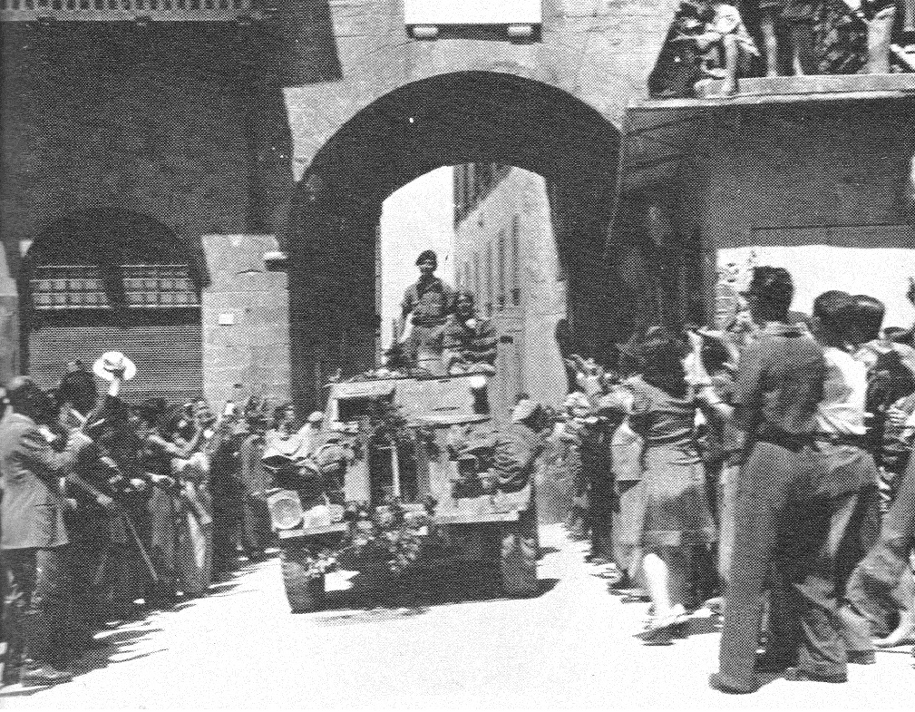 17.  Lt. Charles Ridley 56 Recce enters  Cortona 3 July 1944