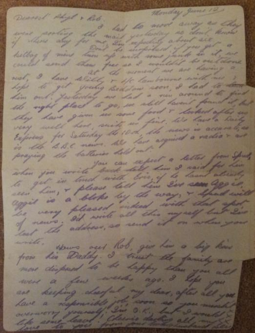 Ben's second letter from Normandy 12d6m1944