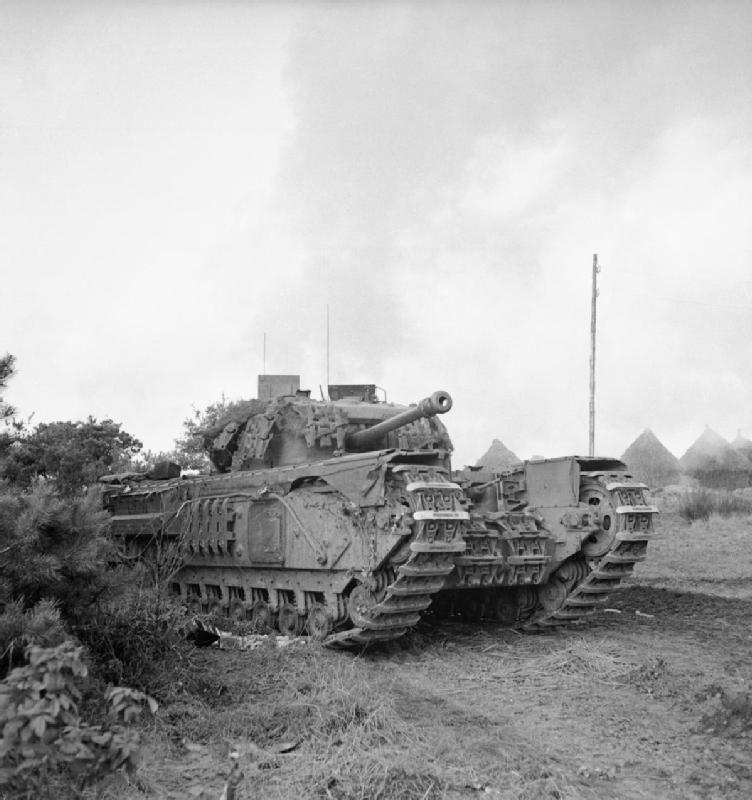 Churchill tank of 4th Grenadier Guards near Moostdijk, 4 November 1944; IWM B 11691