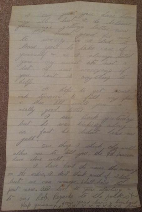 Letter dated 12d6m1940