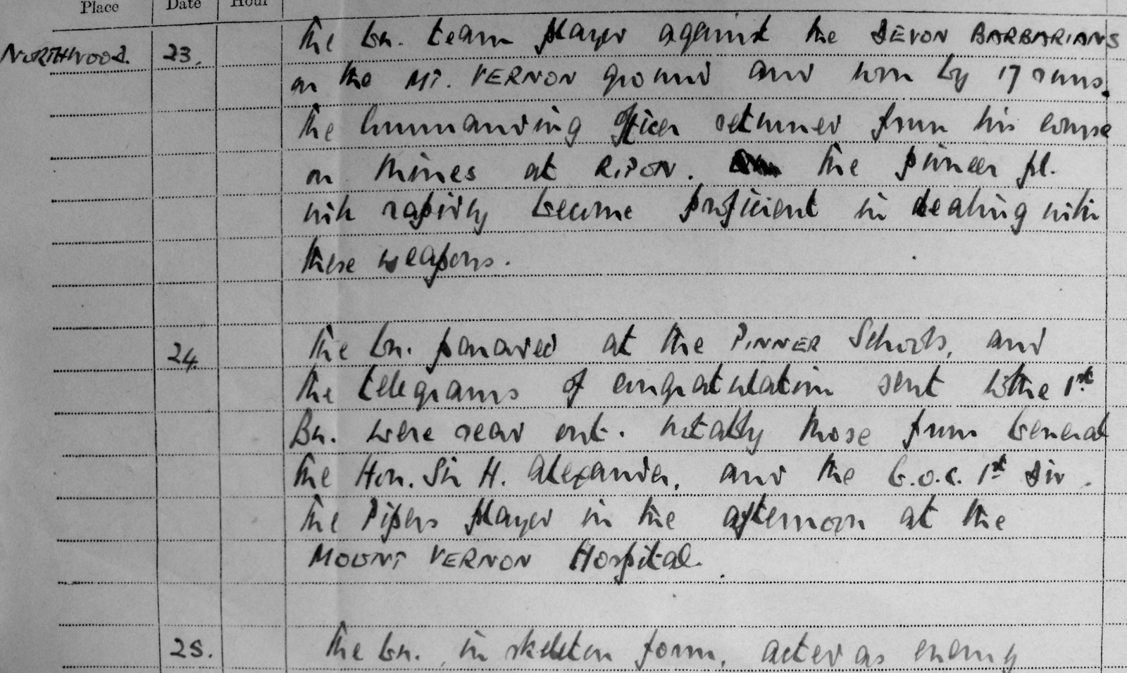 May War Diary, 3rd Battalion Irish Guards, 1943
