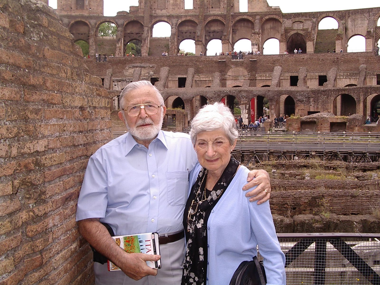 Nita & Ron at the Colisseum in Rome