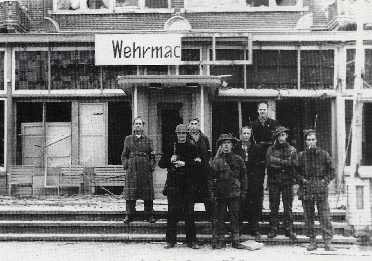 Wehrmacht Hotel, Flushing after Liberation. 1944.